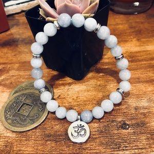 Jewelry - 🦋AQUAMARINE BOHO STONE BRACELET🦋